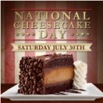 flyer for the national cheesecake day
