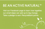Aveeno facebook recyclebank points flyer
