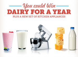 Win dairy for a year logo picture