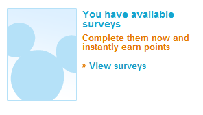 Disney Survey's available screen shot