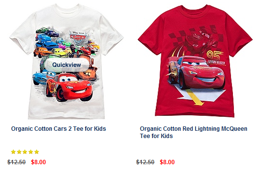 Disney kids graphic tees on sale