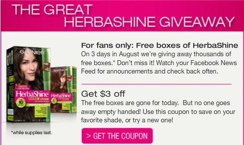 HerbaShine ad from Facebook page
