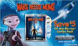 Mars Needs Moms coupon ad