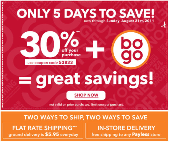Payless Sales Advertisement