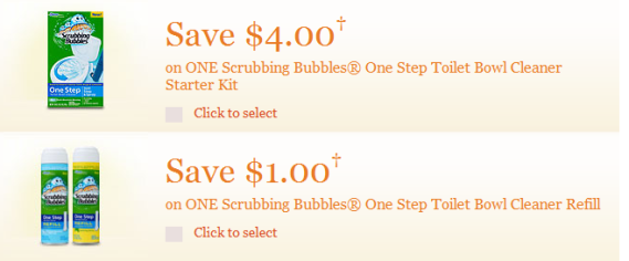 Scrubbing Bubbles Coupon Print Screen Shot