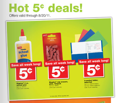 Staples 5 cent deals print screen