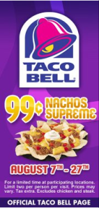Taco Bell flyer picture