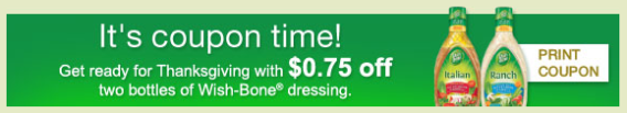 Wishbone salad dressing coupon banner